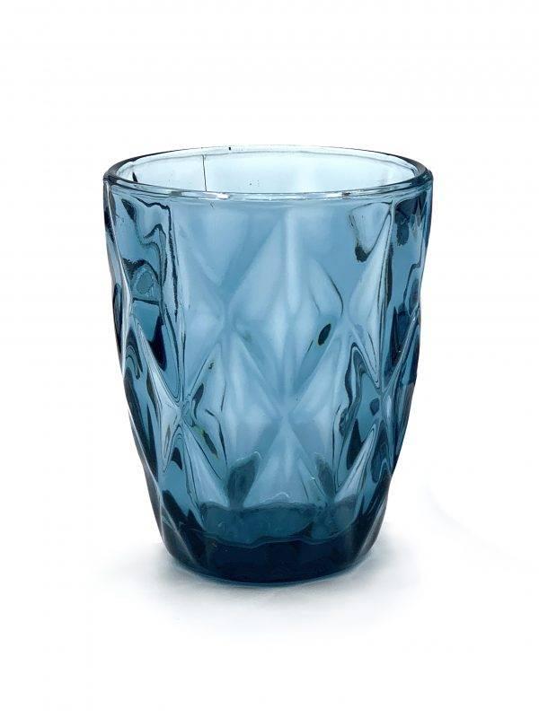 vajilla azul colores cristaleria
