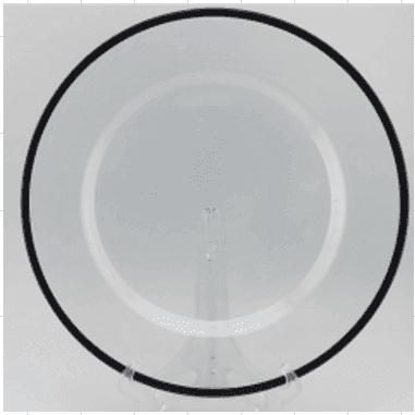 Imagen de Producto Bajoplato Negro 33cm