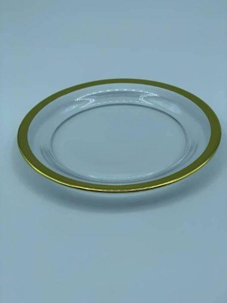Imagen de Producto Bajoplato Cristal Filo Oro