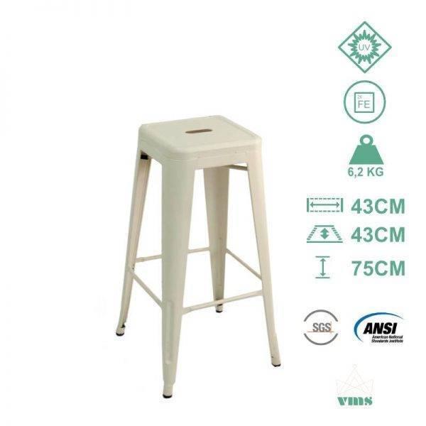 Imagen de Producto Taburete industrial Stilix Blanco