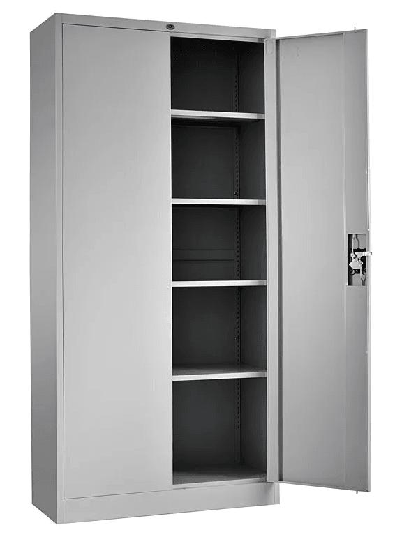 armario otelo metalico puertas abatibles gris claro 90x40x185 cms 4