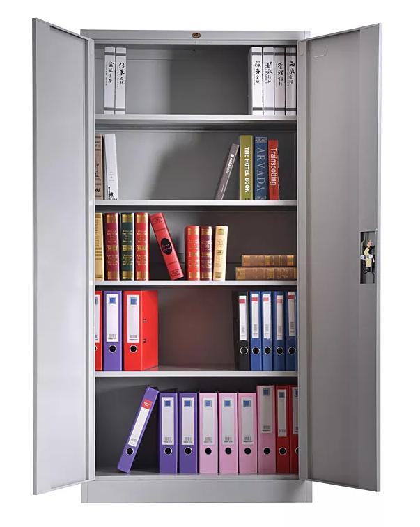 armario otelo metalico puertas abatibles gris claro 90x40x185 cms 5