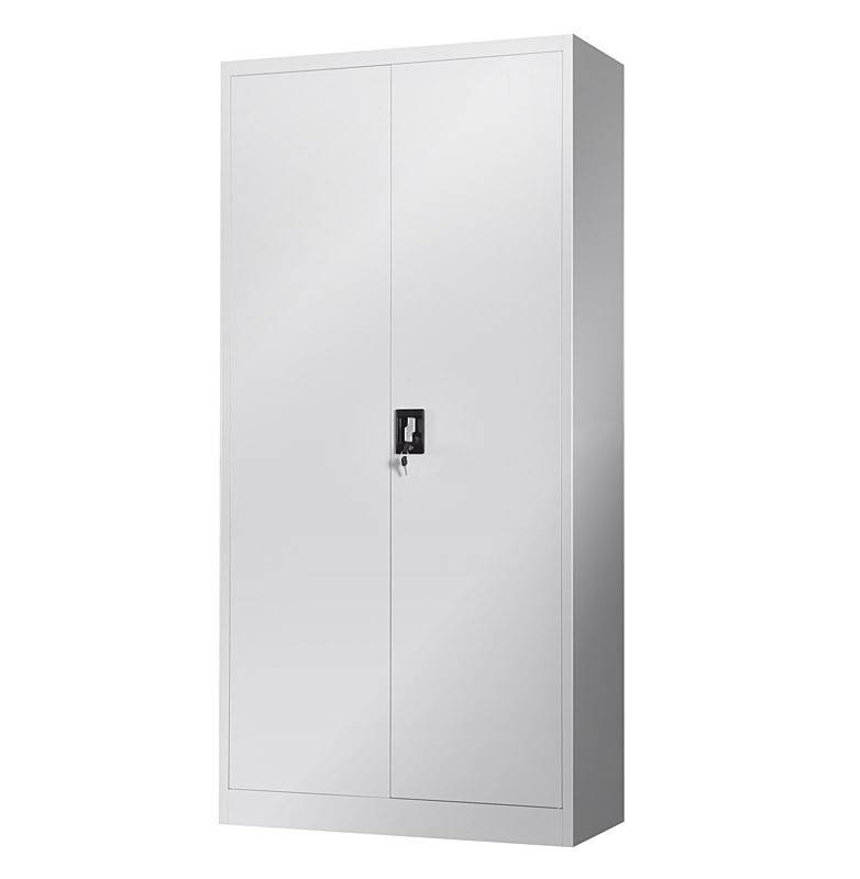 armario otelo metalico puertas abatibles gris claro 90x40x185 cms