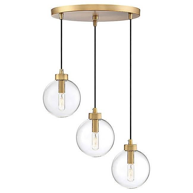 lampara algol colgante metal cristal 3 luces