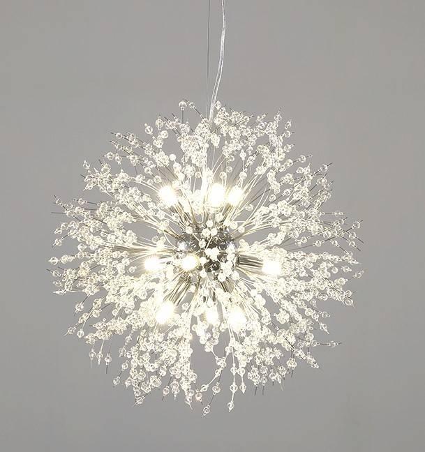 lampara fornax colgante metal cristal