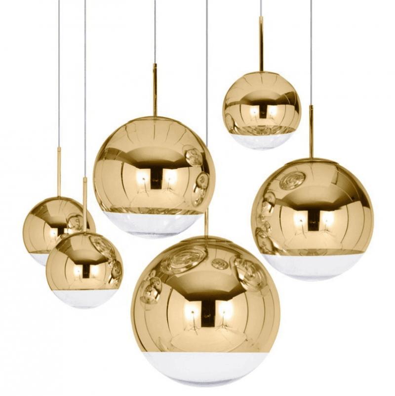 lampara karim colgante cristal dorado transparente 25 cms de diametro 1
