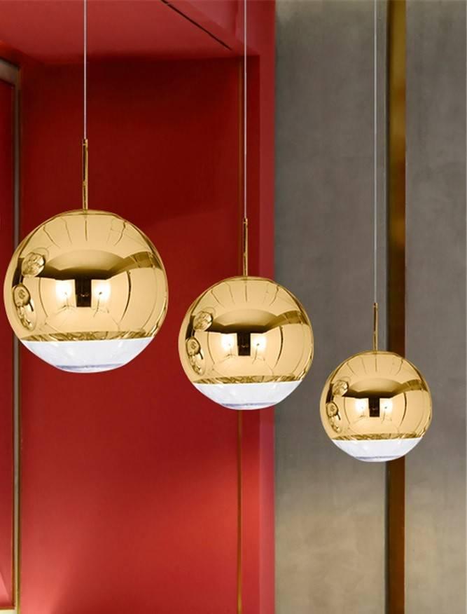 lampara karim colgante cristal dorado transparente 25 cms de diametro 2