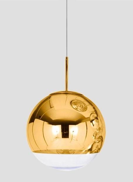 lampara karim colgante cristal dorado transparente 30 cms de diametro