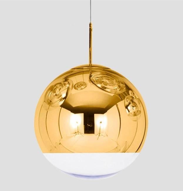 lampara karim colgante cristal dorado transparente 40 cms de diametro