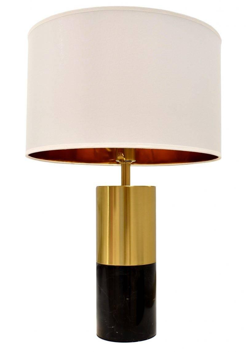lampara nashira sobremesa marmol negro pantalla blanca scaled