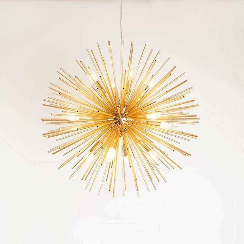 lampara sagitario colgante metal dorada