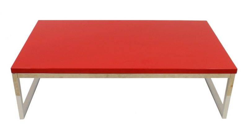 mesa jennifer baja lacada rojo 102x60 cms 1