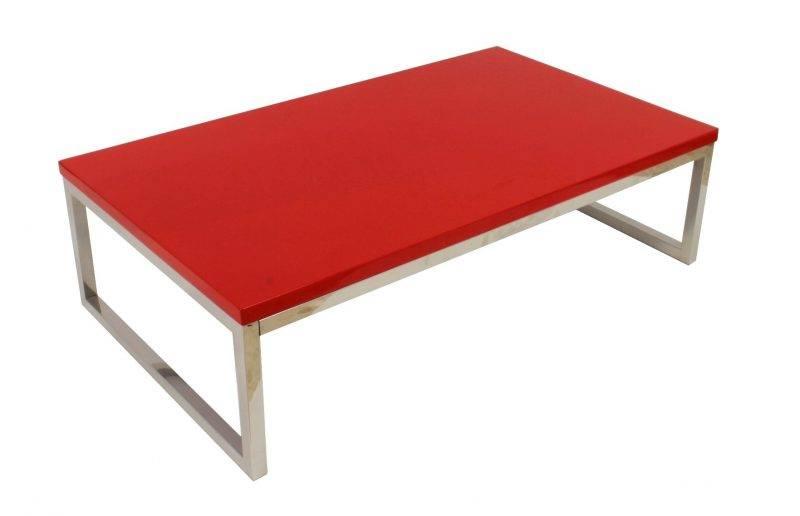 mesa jennifer baja lacada rojo 102x60 cms