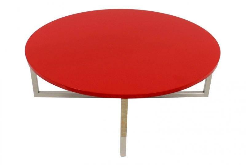 mesa jennifer baja lacada rojo 90 cms 1