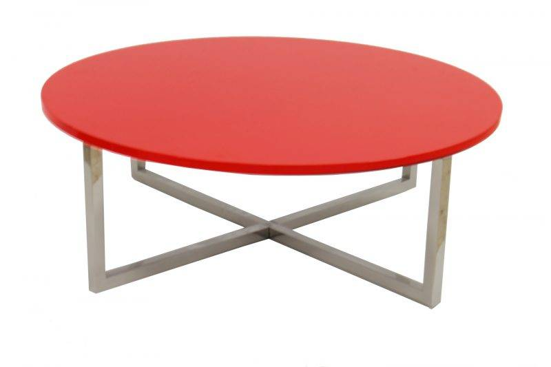 mesa jennifer baja lacada rojo 90 cms