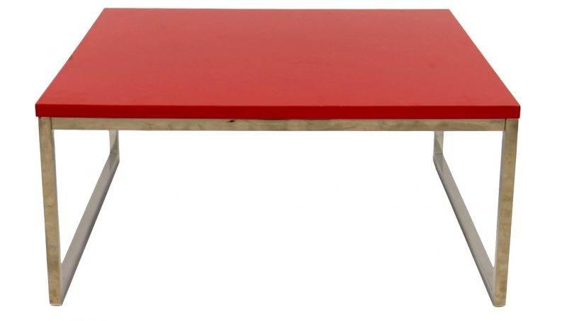mesa jennifer baja lacada rojo 92x92 cms 1