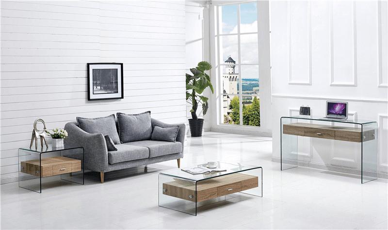 mesa marilyn baja madera cristal 110x55 cms 1