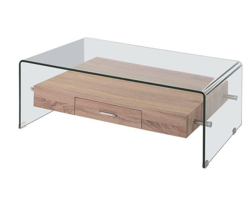 mesa marilyn baja madera cristal 110x55 cms