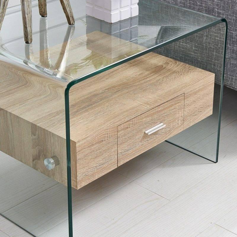 mesa marilyn baja madera cristal 50x50 cms 1