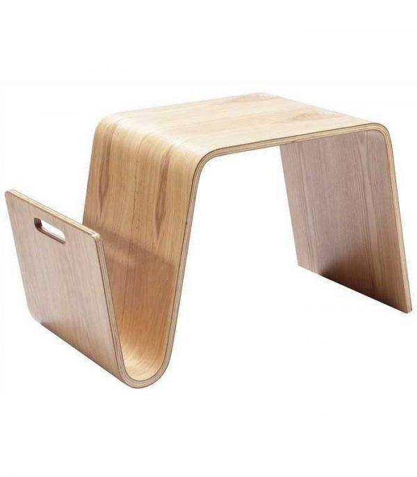 mesa nerea baja madera curvada fresno