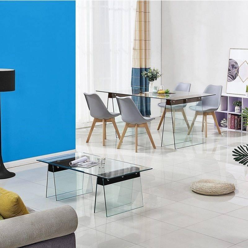 mesa selene madera cristal templado 200x90 cms 2