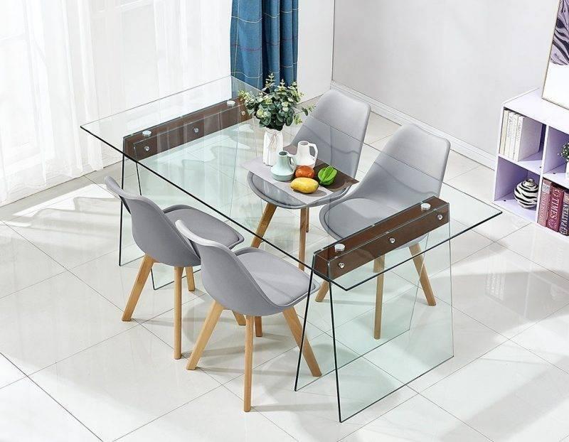 mesa selene madera cristal templado 200x90 cms
