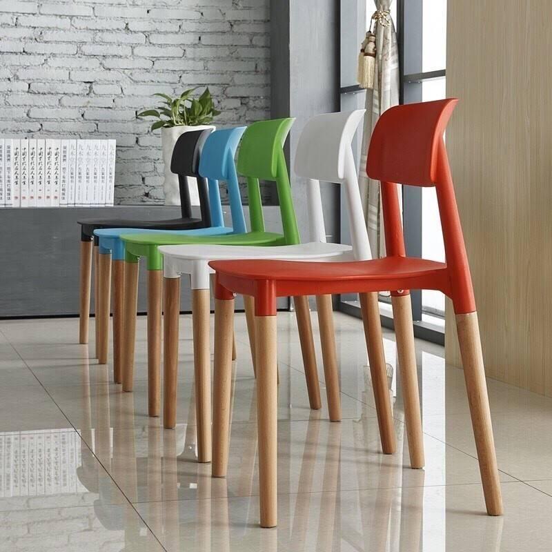 silla croscat k madera polipropileno rojo 1