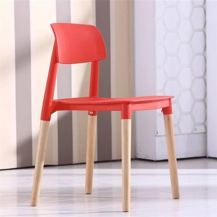 silla croscat k madera polipropileno rojo