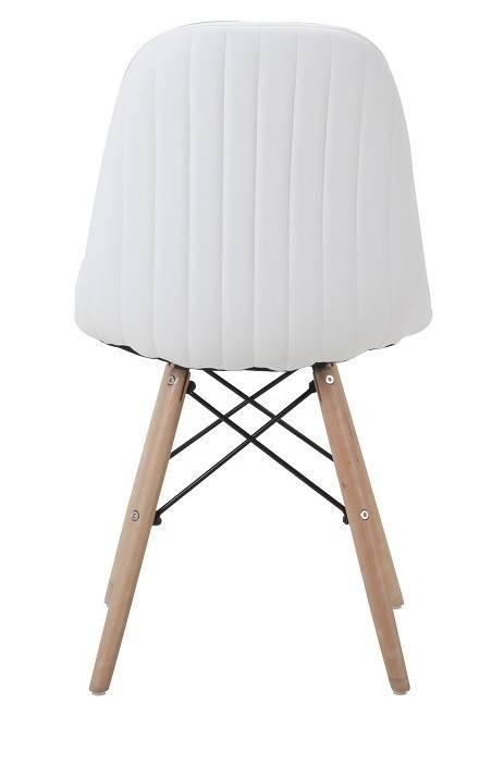 silla delia madera similpiel blanca 2
