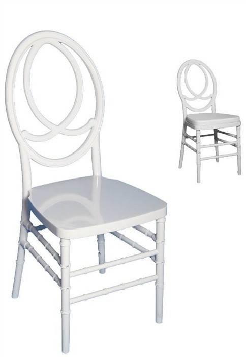 silla fenix policarbonato blanco cojin