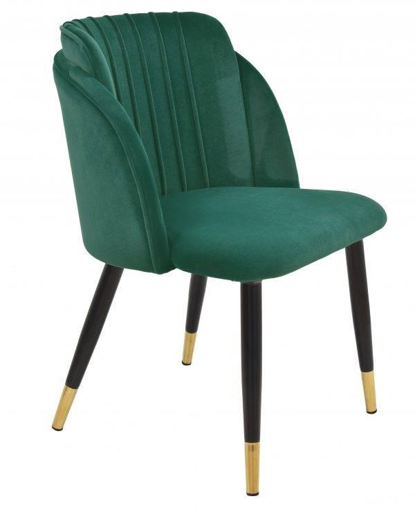 silla glamour metal tapizado velvet verde