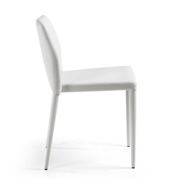 silla larbi tapizada blanca 1