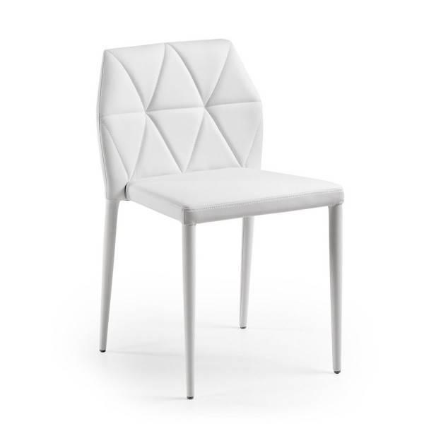 silla larbi tapizada blanca