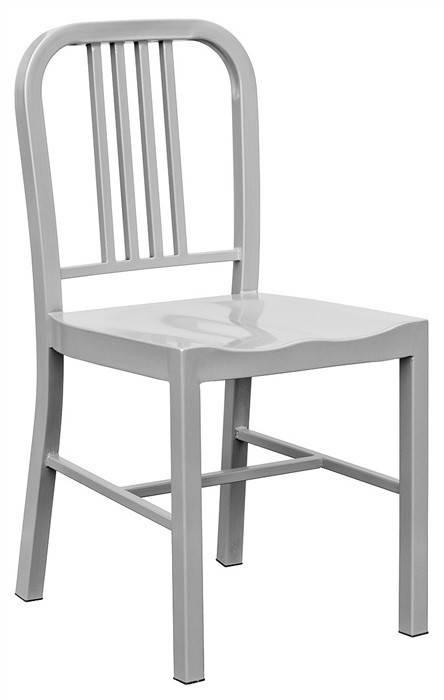 silla nao acero gris plata