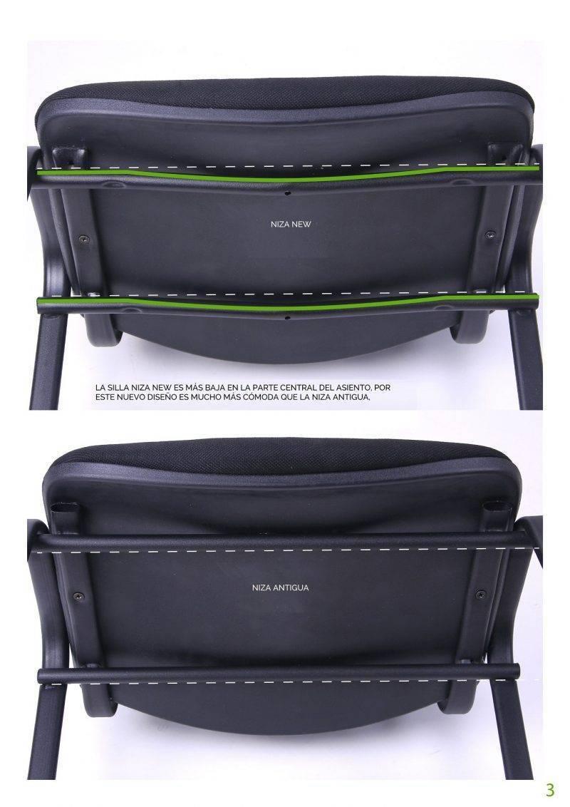 silla niza new am chasis epoxi negro tejido a20 color azul 2