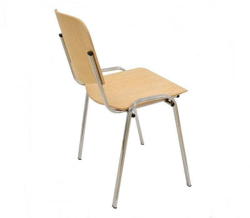 silla niza new chasis cromado asiento y respaldo en madera natural 1 scaled