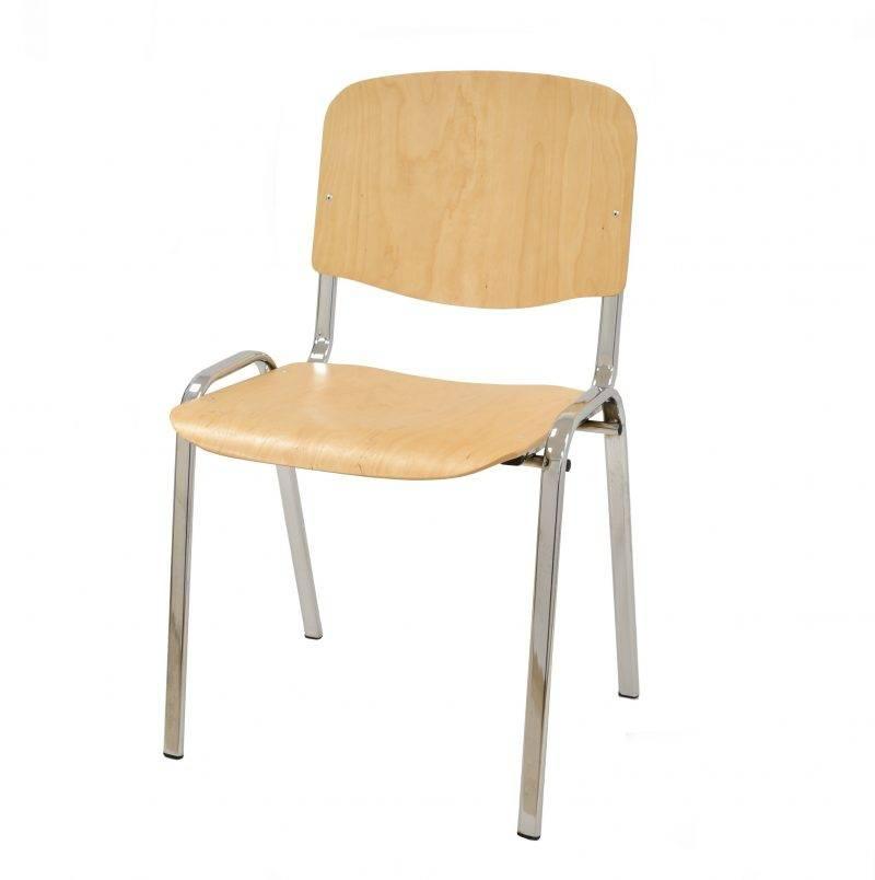silla niza new chasis cromado asiento y respaldo en madera natural scaled