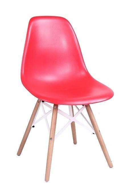 silla star madera abs rojo