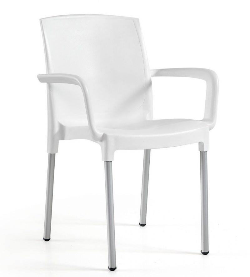 sillon clarin aluminio polipropileno blanco