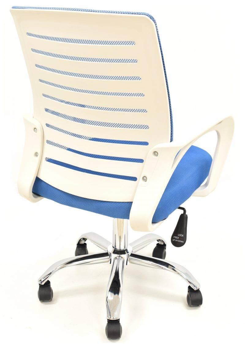 sillon de oficina sunset blanco gas basculante malla y tejido azul 3 scaled