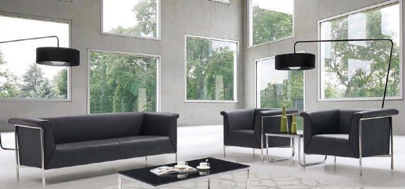 sofa hermes 3 plazas similpiel negra 1