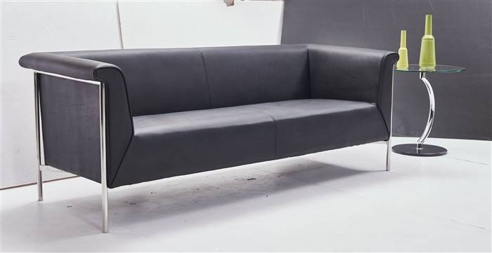 sofa hermes 3 plazas similpiel negra