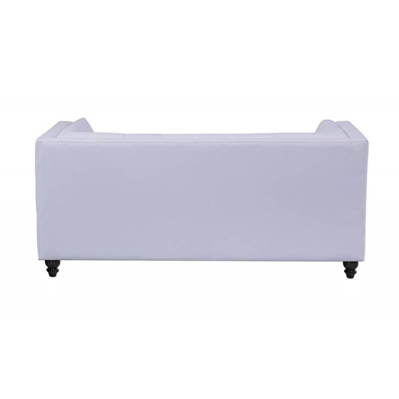 sofa lewis 2 plazas similpiel blanca 4