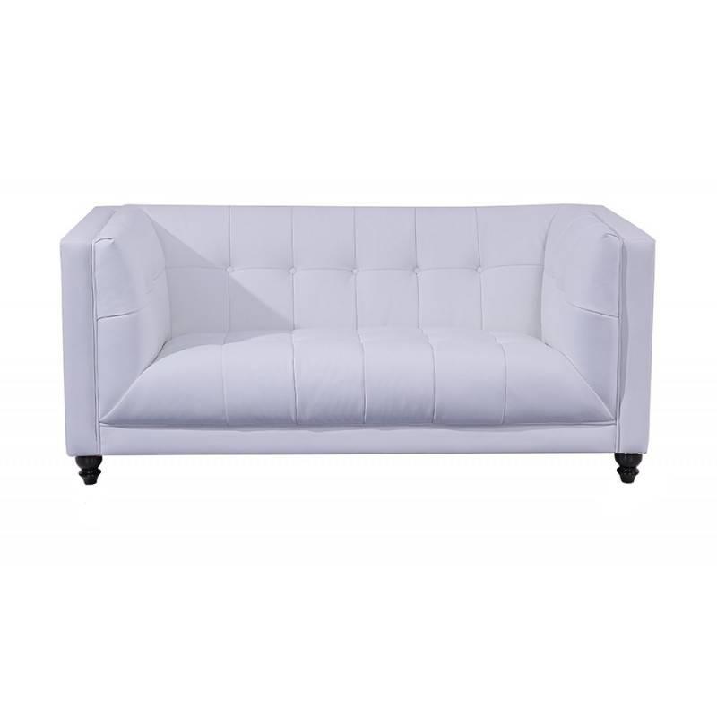 sofa lewis 2 plazas similpiel blanca 5