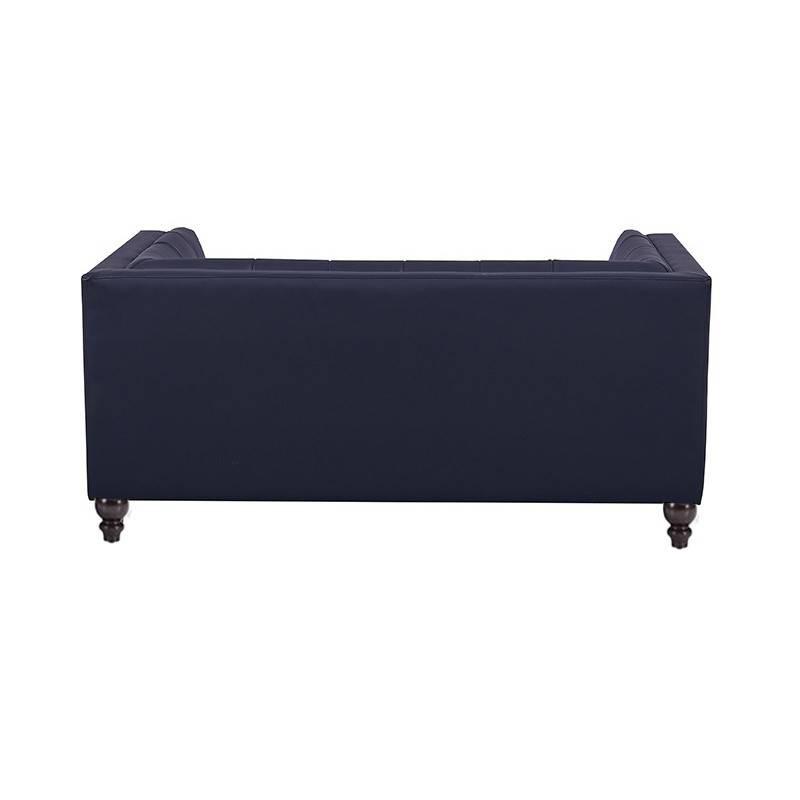 sofa lewis 2 plazas similpiel negra 2