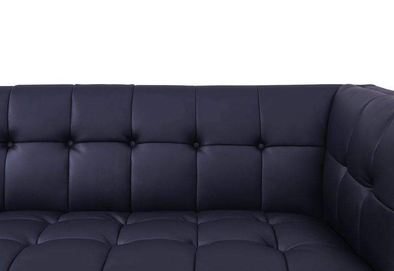 sofa lewis 2 plazas similpiel negra 4