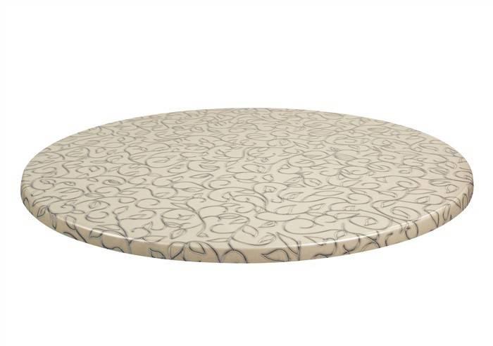 tablero de mesa topalit mono filo 132 70 cms de diametro