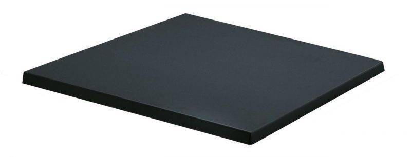 tablero de mesa werzalit sm negro 55 70 x 70 cms